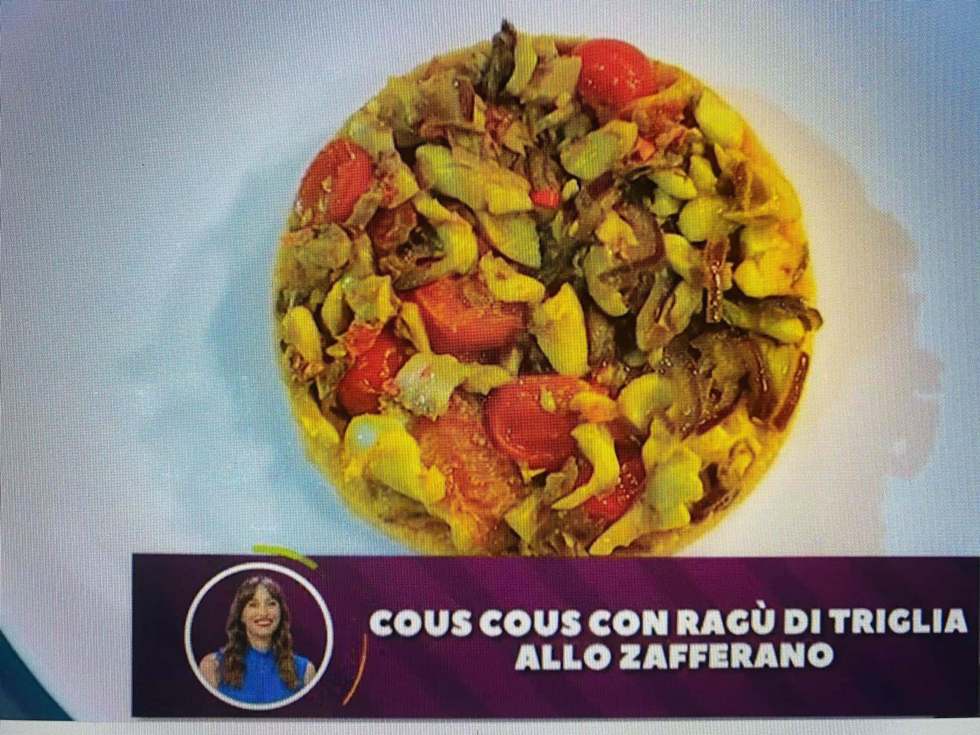 Benedetta Parodi torna in cucina e prepara cous cous con il ragù di triglia allo zafferano