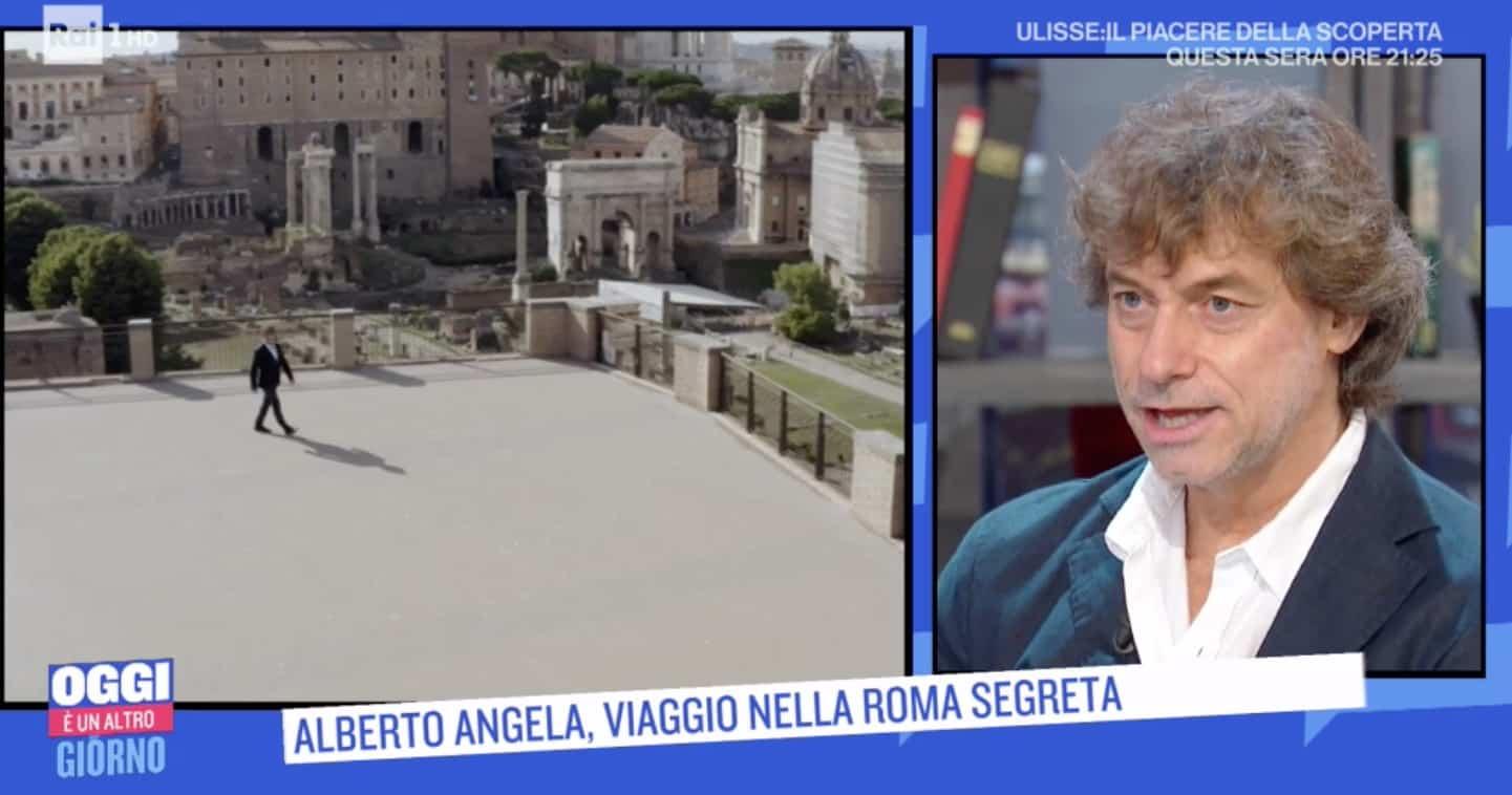 Alberto Angela stasera inizia il viaggio volando su Roma con Ulisse – Il piacere della scoperta