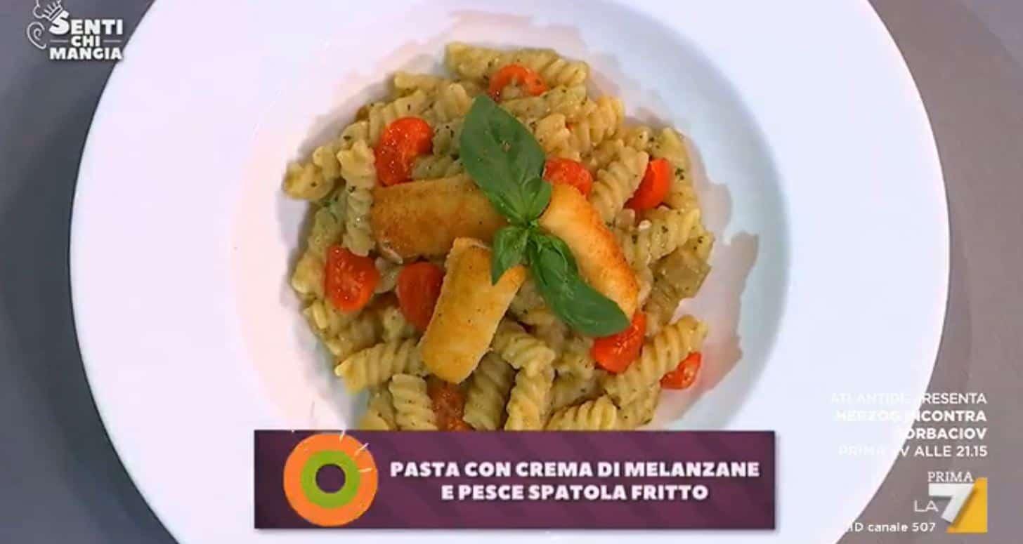 Nuove ricette Benedetta Parodi pasta con mousse di melanzane da Senti chi mangia