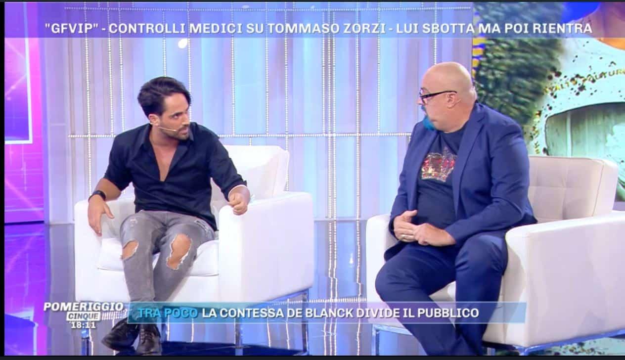 Giovanni Ciacci e Tommaso Zorzi avrebbero un uomo in comune: la rivelazione a Pomeriggio 5