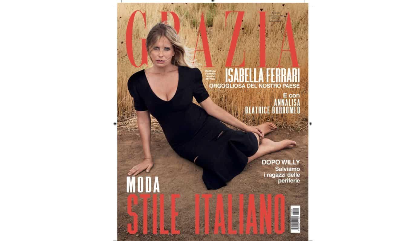 Isabella Ferrari su Grazia: diventare attrice era il sogno di sua madre ma è andata bene così