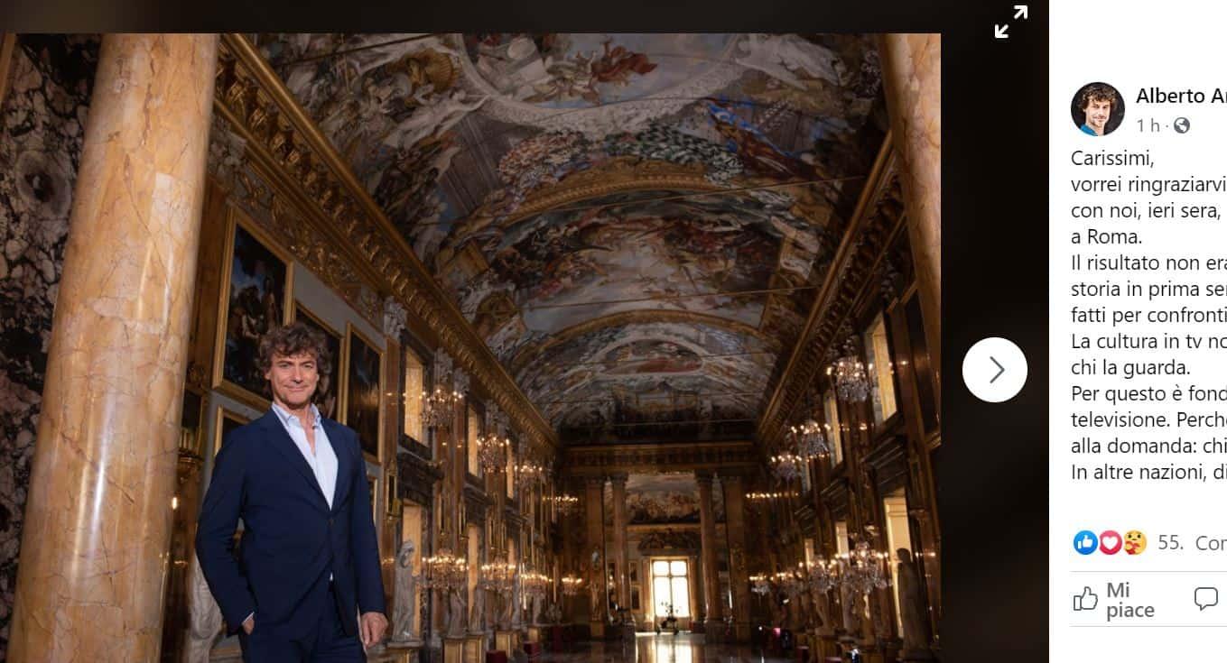 """Alberto Angela ringrazia il pubblico per gli ascolti di Ulisse: """"La cultura in tv non è una gara"""""""
