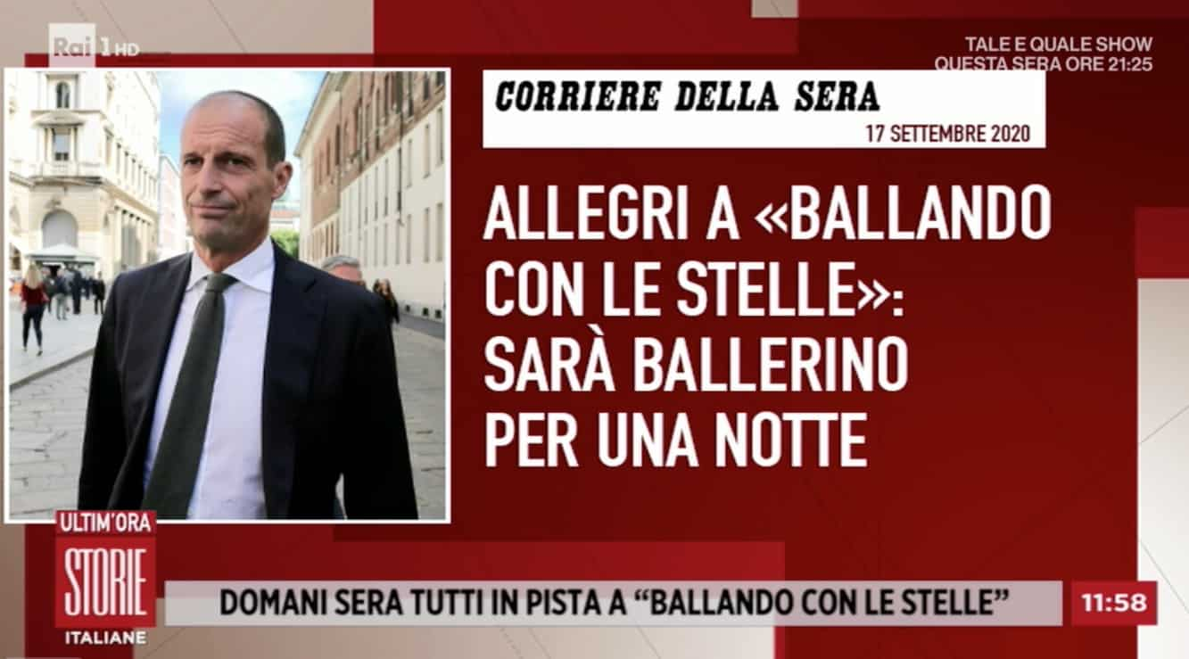 Massimiliano Allegri in un tango a Ballando con le Stelle, tutti vorrebbero vederlo con Ambra (Foto)
