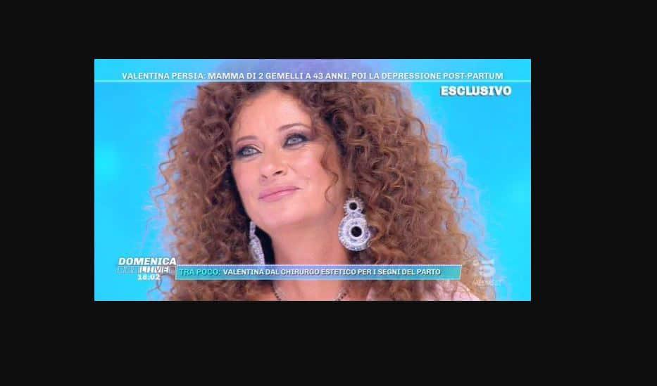 Valentina Persia si confessa a Domenica Live: la depressione dopo la nascita dei due gemelli