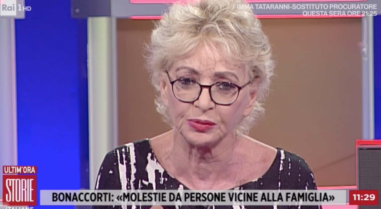 Enrica Bonaccorti pentita di avere raccontato delle violenze subite, lo spiega a Storie Italiane