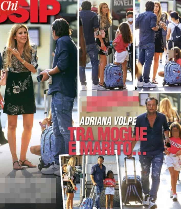 Adriana Volpe, la lite in strada con il marito beccata dai paparazzi (Foto)