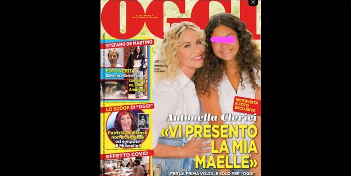 La figlia di Antonella Clerici in copertina con la mamma che torna in tv con il suo permesso (Foto)