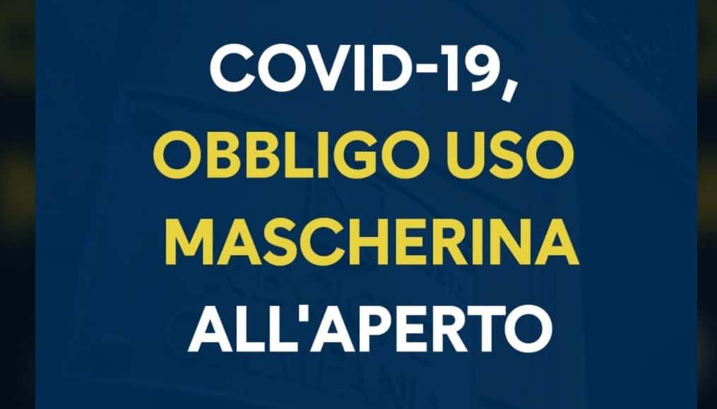 In Campania obbligo di mascherine anche all'aperto: la nuova ordinanza che dura fino al 4 ottobre