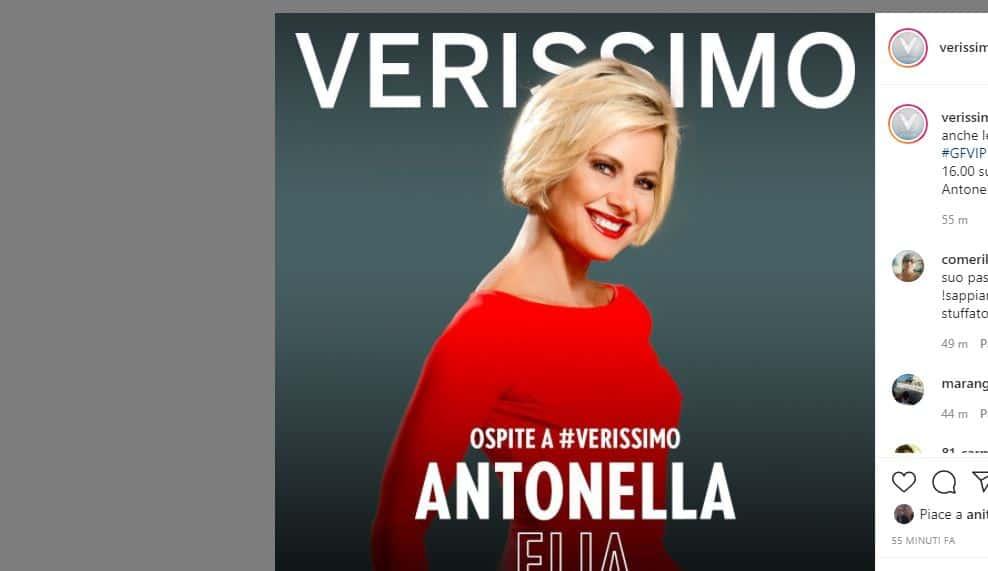 Verissimo ospiti 26 settembre 2020: una coppia amatissima e la divisiva Antonella Elia