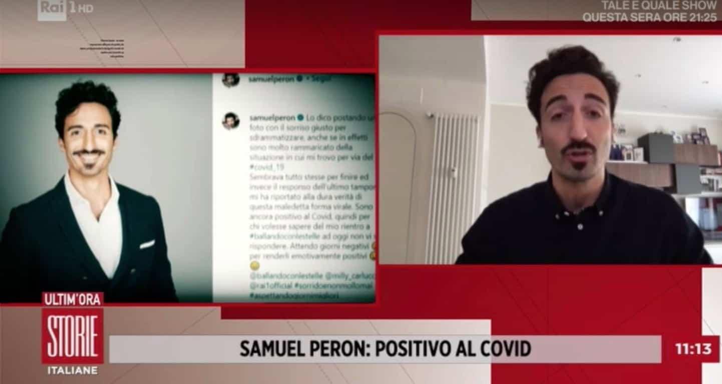 Samuel Peron ancora positivo, a Storie Italiane la sua preoccupazione è per il futuro