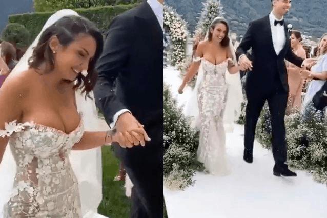 Elettra Lamborghini e Afrojack il matrimonio a Como: lei sposa moderna ed emozionata (FOTO)