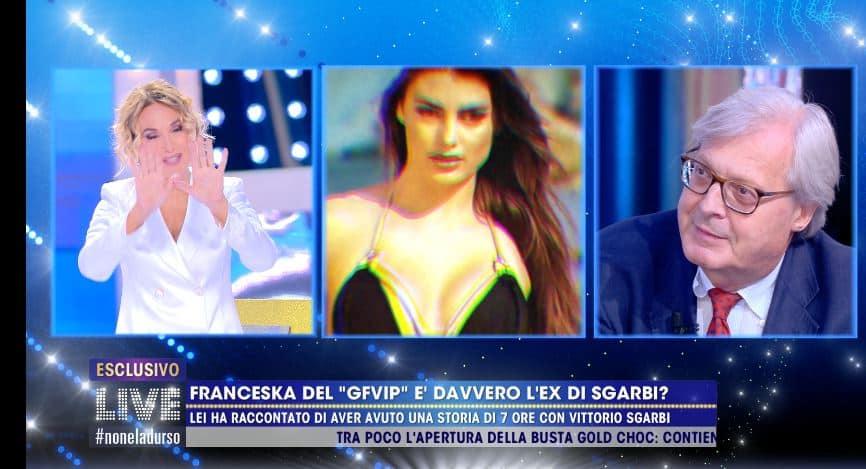 """Vittorio Sgarbi su Franceska: """"incontro di 18 minuti dietro un quadro"""""""