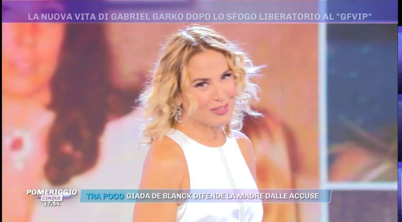 """Barbara d'Urso legge un messaggio di Gabriel Garko a Pomeriggio 5: """"Mi apprezzano di più ora"""""""