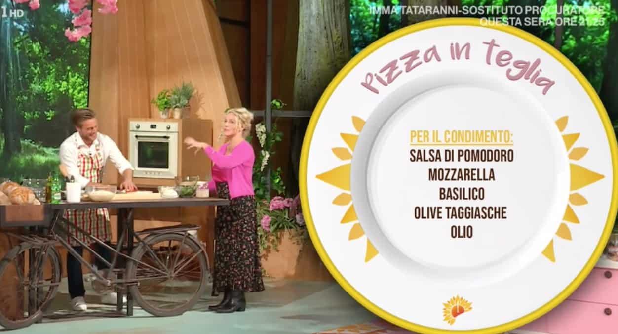 Ricette E' sempre mezzogiorno, la pizza in teglia di Fulvio Marino (Foto)