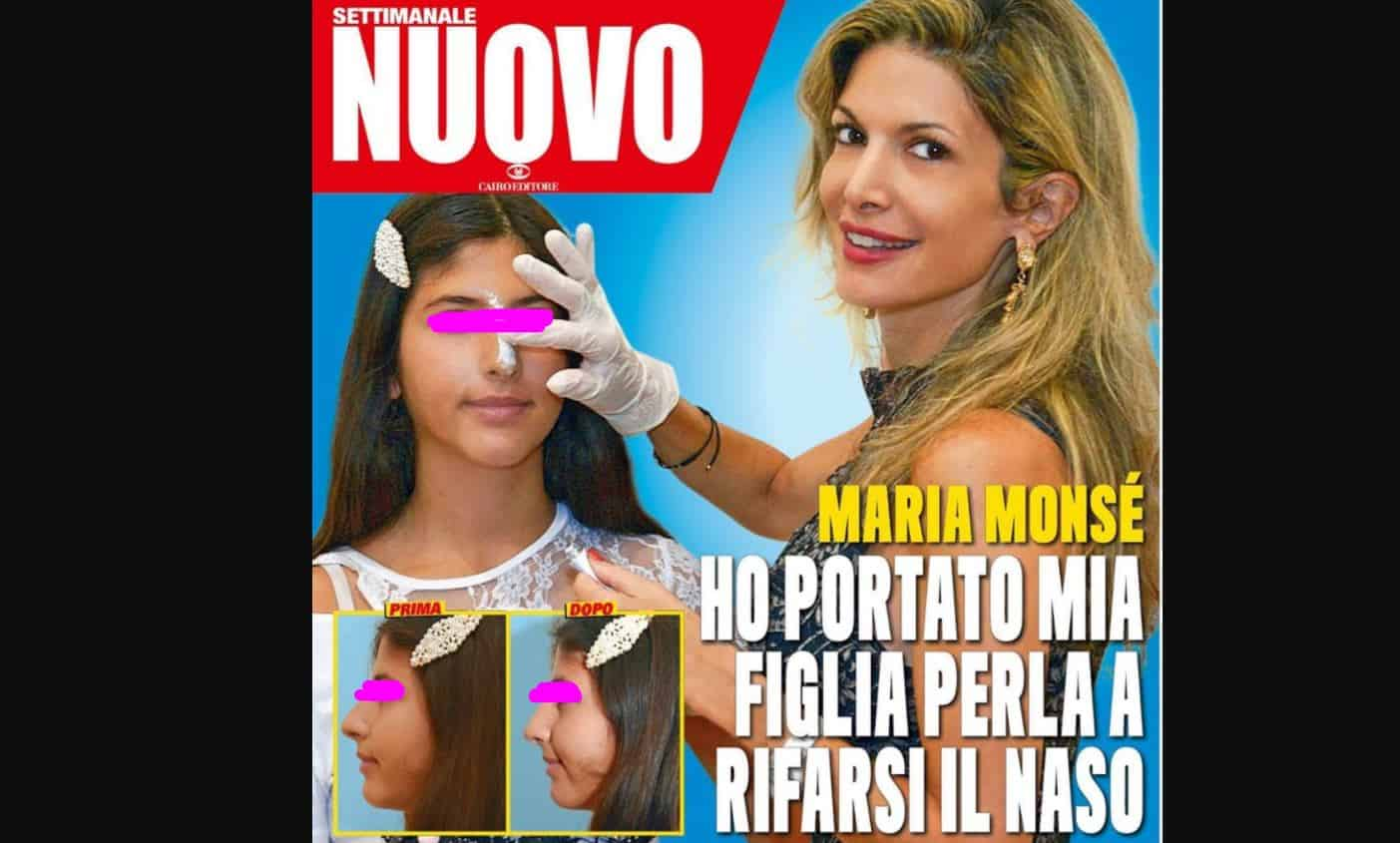 Perla Maria si rifà il naso: la figlia della Monsè finisce in copertina su Nuovo