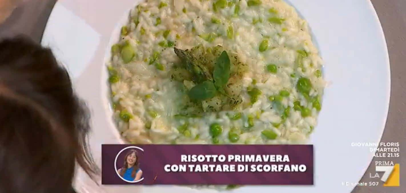 Nuove ricette Benedetta Parodi: Risotto primavera con tartare di scorfano