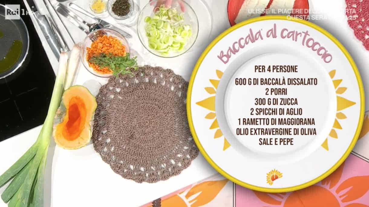 Baccalà al cartoccio di zia Cri, la ricetta E' sempre mezzogiorno (Foto)