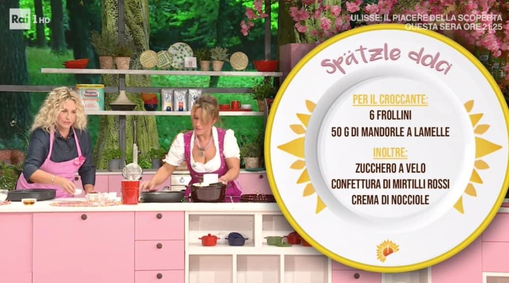 Le ricette E' sempre mezzogiorno: spatzle dolci con Nutella e croccante (Foto)