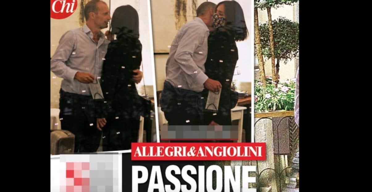 Ambra Angiolini e Allegri c'è passione anche con le mascherine (Foto)