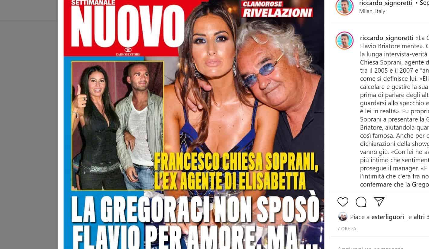 """Parla l'ex menager di Elisabetta Gregoraci: """"Ha sposato Flavio solo perchè era Briatore"""""""
