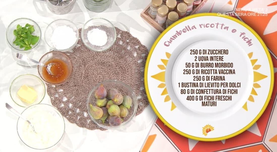 La ricetta di zia Cri della ciambella ricotta e fichi (Foto)