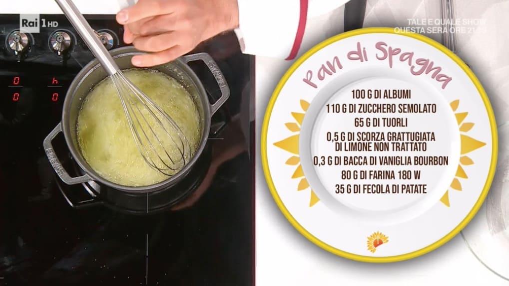 Luca Montersino parte dalle ricette base con il pan di Spagna per E' sempre mezzogiorno