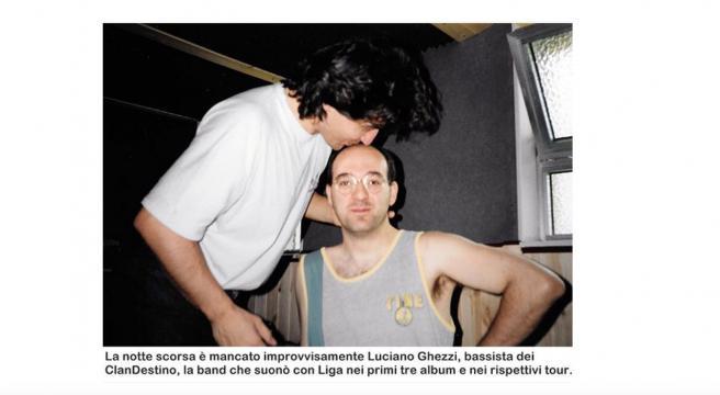 Ligabue saluta Luciano Ghezzi, morto il suo storico bassista
