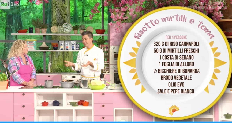 La ricetta di Sergio Barzetti del risotto mirtilli e toma: E' sempre mezzogiorno