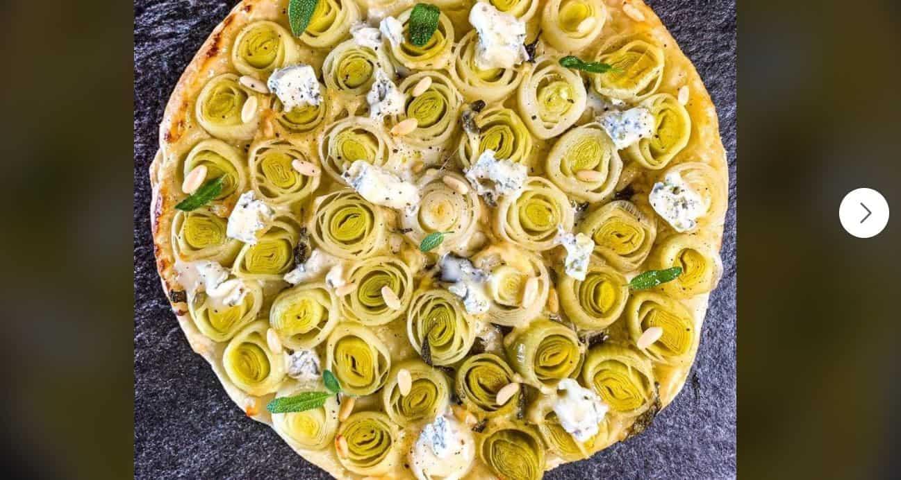 La ricetta della torta rovesciata porri e gorgonzola di Andrea Mainardi