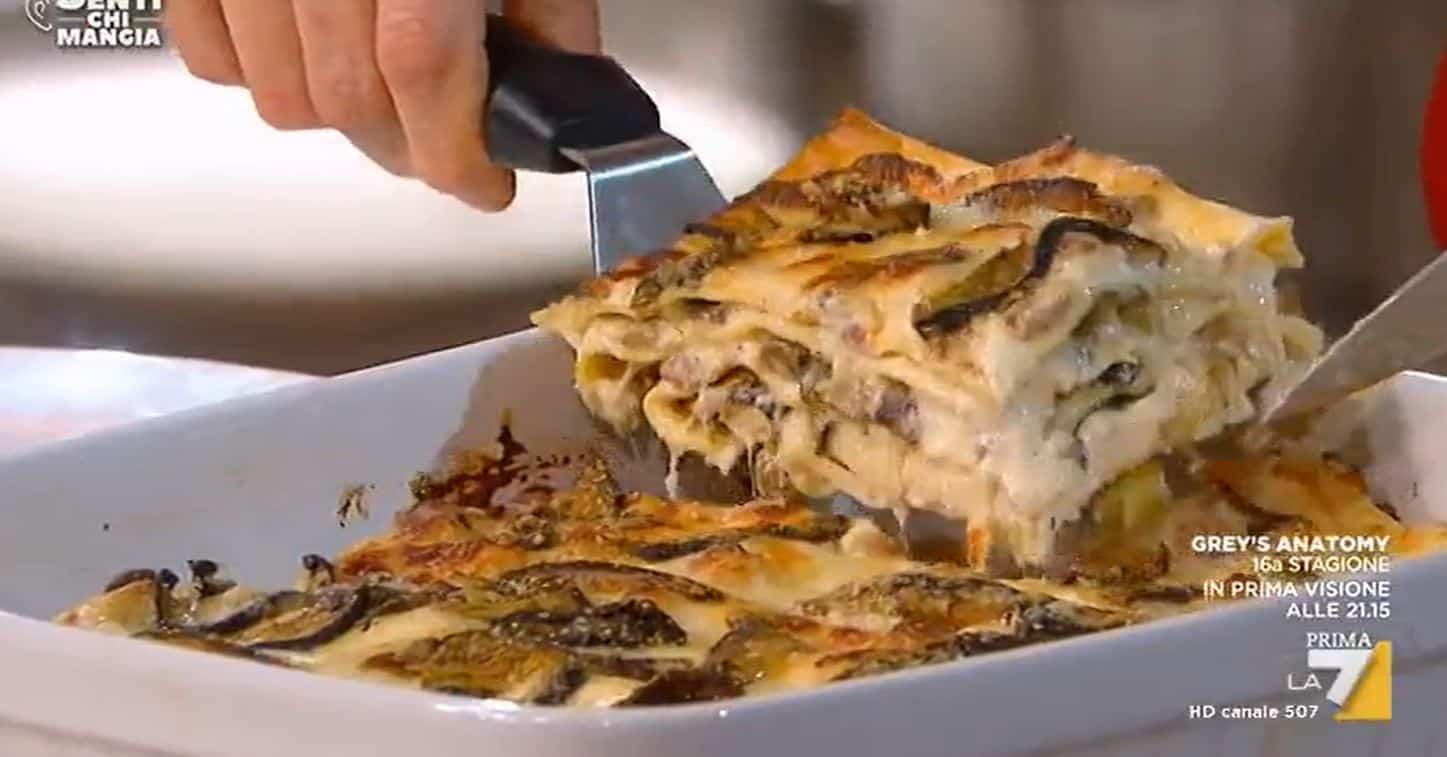 Nuove ricette Benedetta Parodi: lasagna con funghi porcini da Senti chi mangia