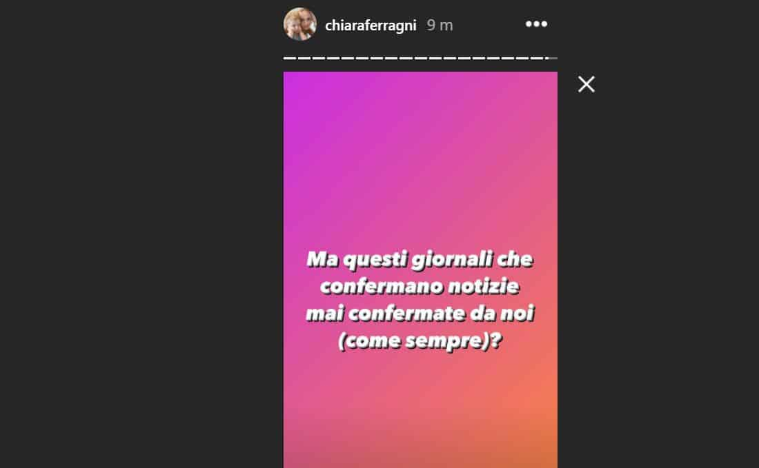 Chiara Ferragni e Fedez aspettano una  femminuccia? L'influencer smentisce