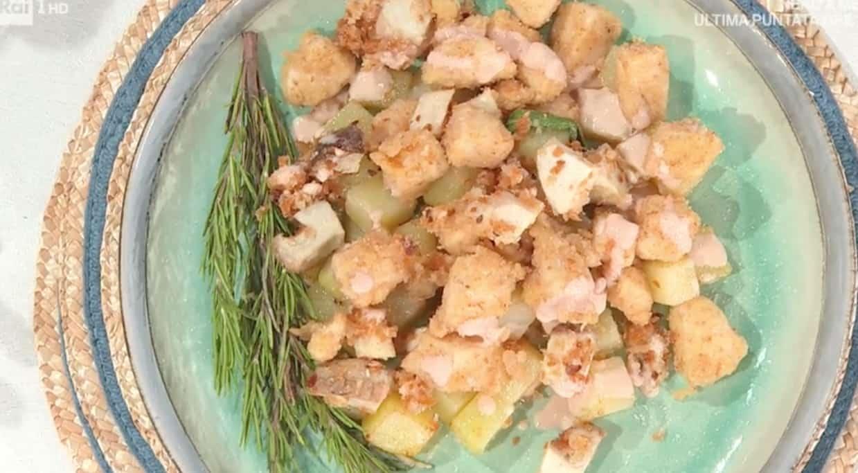 Francesca Marsetti simpatia e ricetta fritto misto di bocconcini di pollo: E' sempre mezzogiorno