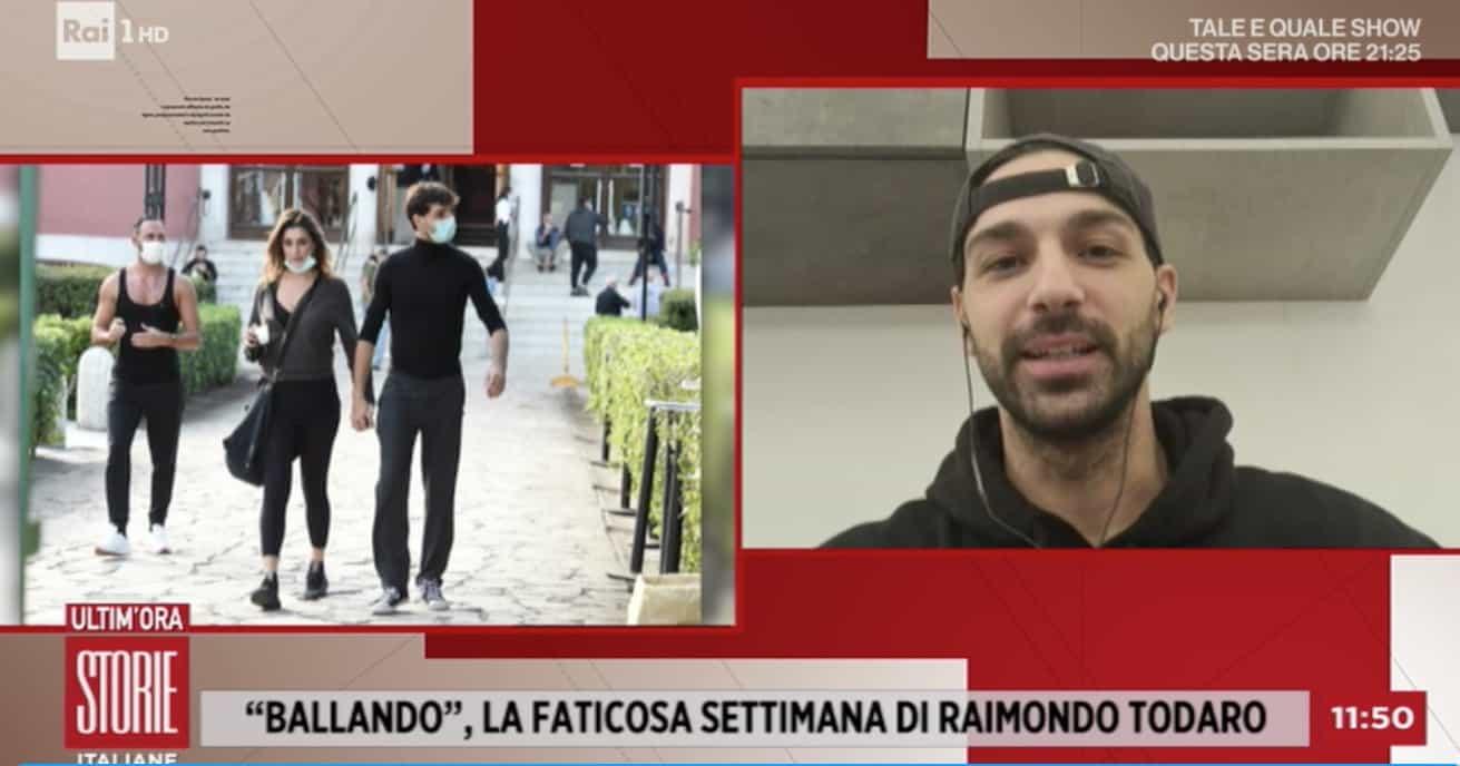 Come sta Raimondo Todaro? A Storie Italiane spiega che le ferite fanno male (Foto)