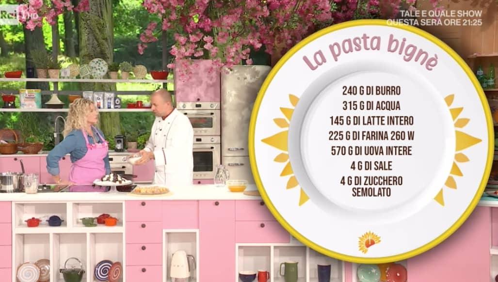 Luca Montersino: la ricetta della pasta bignè, seconda lezione per E' sempre mezzogiorno (Foto)