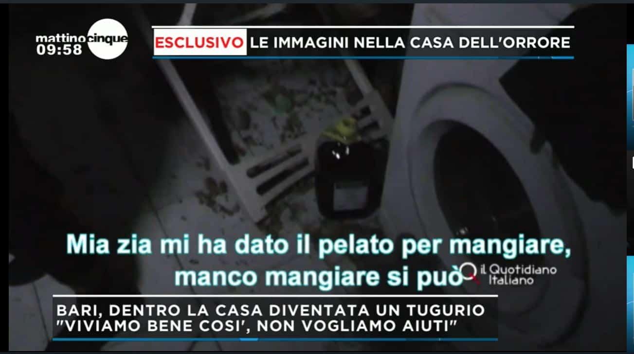 Lello e Angela nella casa tugurio a Bari tra topi, feci e sporco: Mattino 5 cerca di aiutarli
