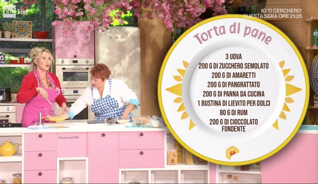 La ricetta della torta di pane di Zia Cri: E' sempre mezzogiorno (Foto)