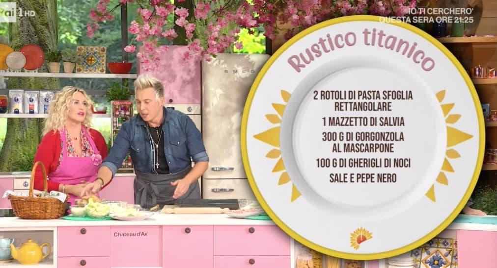Rustico titanico, la ricetta di Andrea Mainardi per Antonella Clerici: E' sempre mezzogiorno