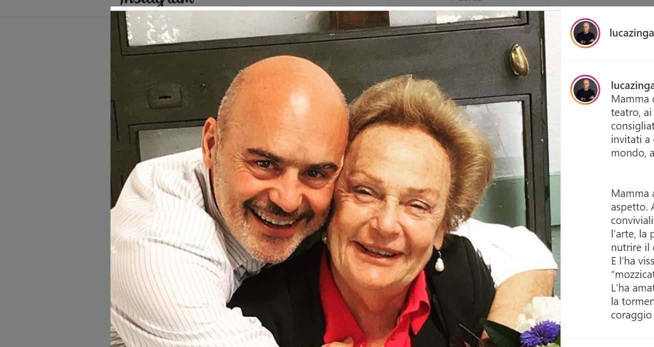 """La lettera di Luca Zingaretti per mamma Mimmi: """"Non conta l'età, resterà solo un grande vuoto"""""""