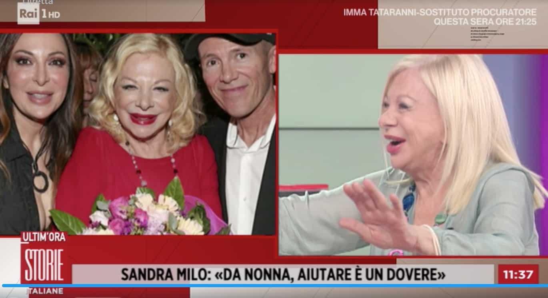 Sandra Milo lavora per mantenere i figli ma a Storie Italiane pensano sia un errore (Foto)