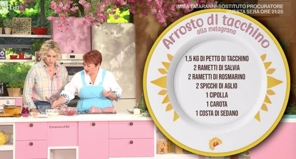 Arrosto di tacchino di zia Cri, la ricetta di oggi E' sempre mezzogiorno (Foto)