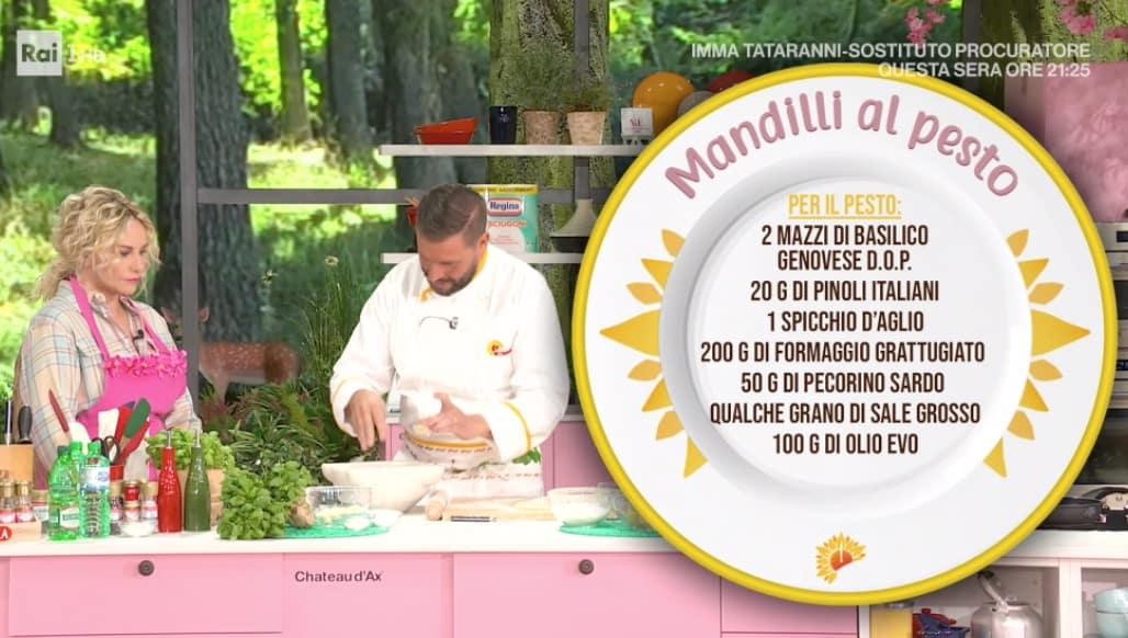 Mandilli al pesto di Ivano Ricchebono, la ricetta E' sempre mezzogiorno (Foto)
