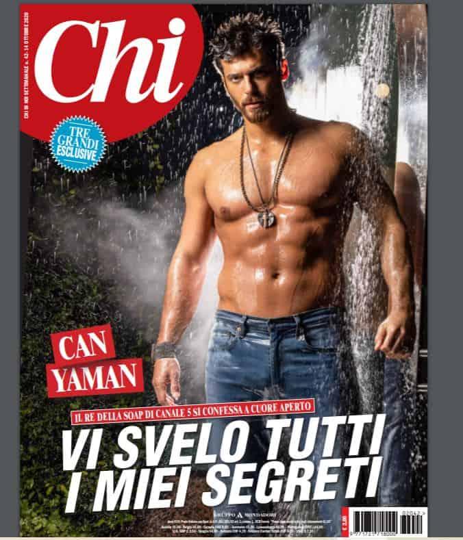 La cover di Chi dedicata a Can Yaman: l'attore in tutta la sua bellezza senta ritocchi