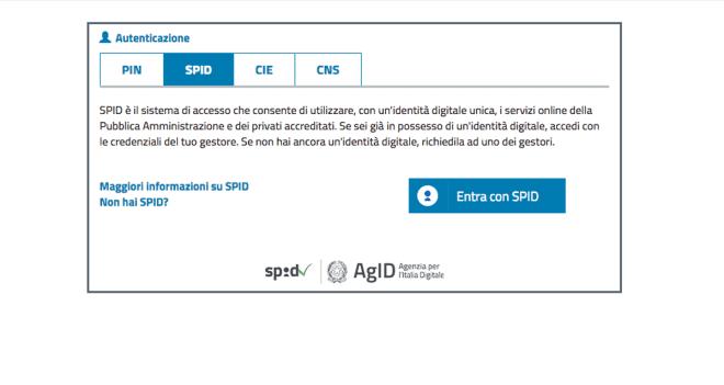 SPID obbligatorio
