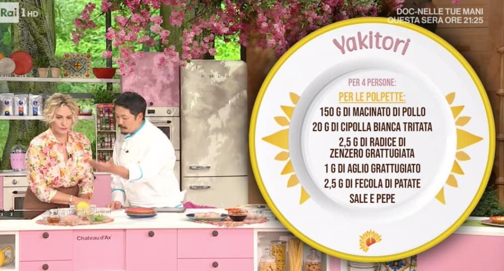 Yakitori di Hiro Shoda, la ricetta degli spiedini di pollo da E' sempre mezzogiorno