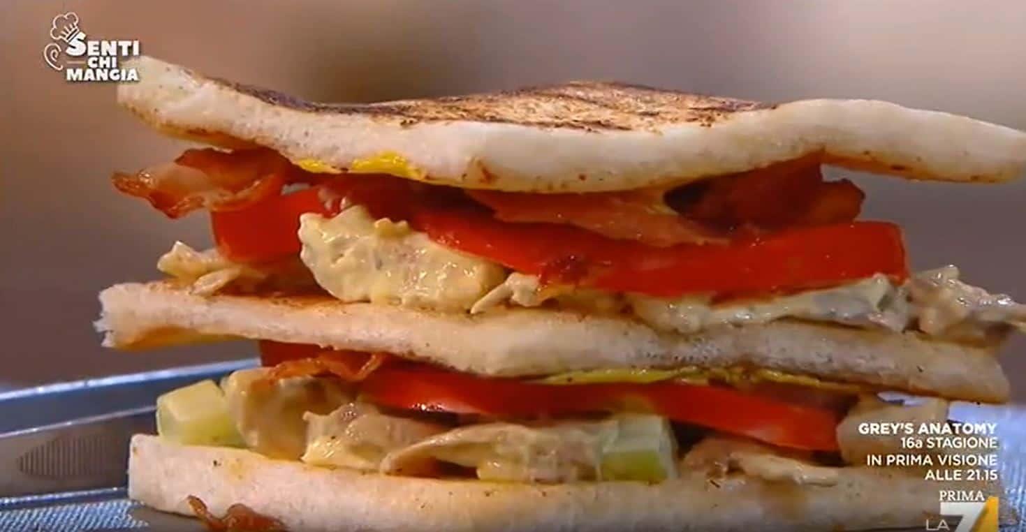 Da Senti chi mangia Club Sandwich di Benedetta Parodi con insalata di faraona