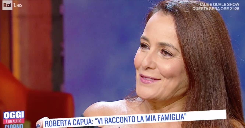 Roberta Capua piange per la mamma allo specchio di Oggi è un altro giorno (Foto)