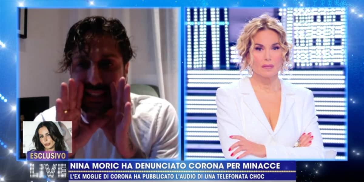 LIVE Non è La D'Urso,  Fabrizio Corona contro Nina Moric: 'Psicopatica' e tira in ballo riti satanici