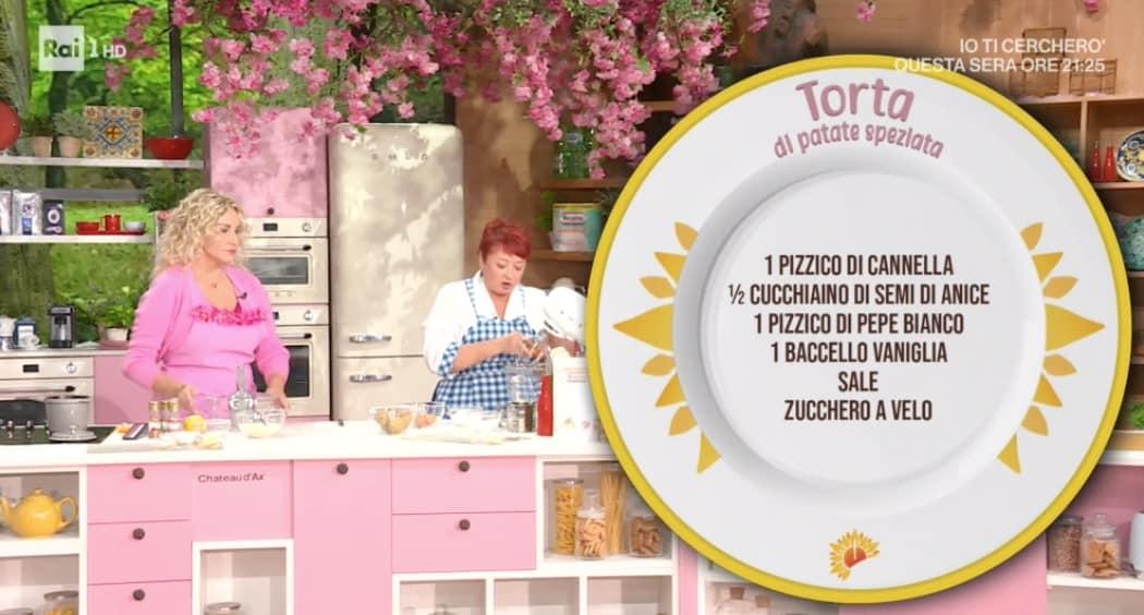 Ricette dolci E' sempre mezzogiorno: torta di patate speziata di zia Cri