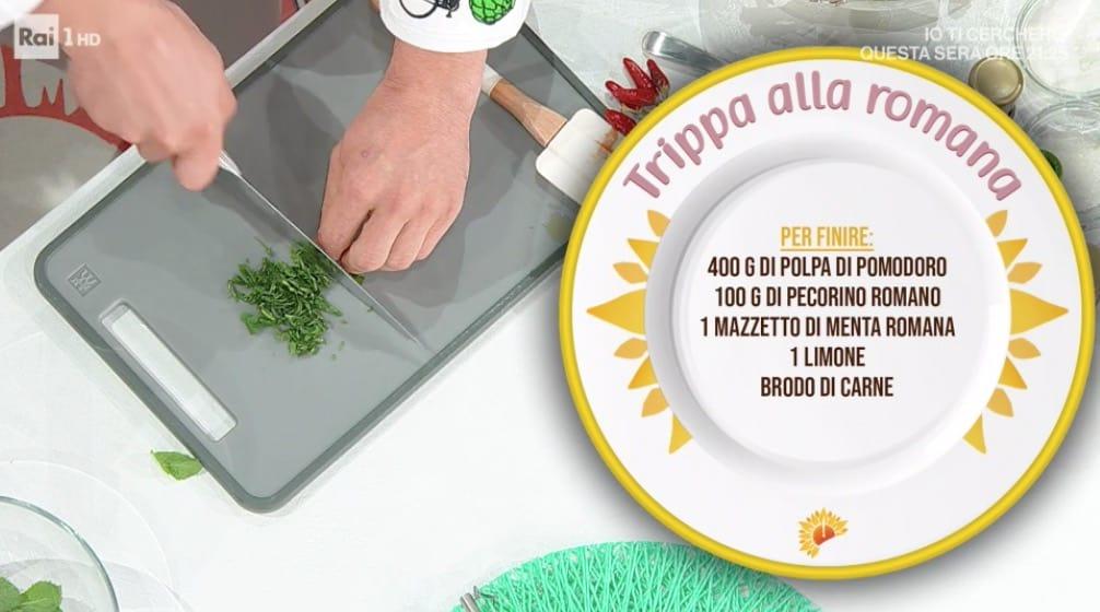 Trippa alla romana di Gian Piero Fava, ricette E' sempre mezzogiorno