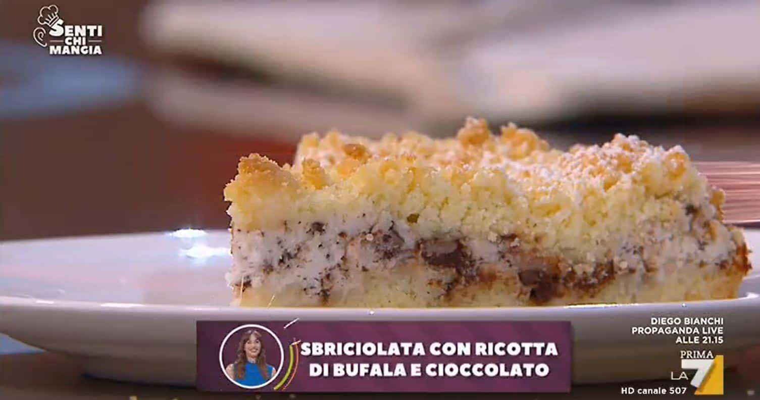 Nuove ricette Benedetta Parodi: sbriciolata con ricotta e cioccolato